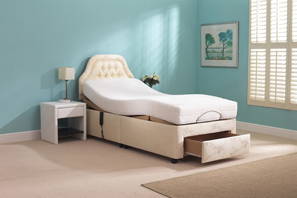 Thornbury Single Adjustable Bed Drawer Open