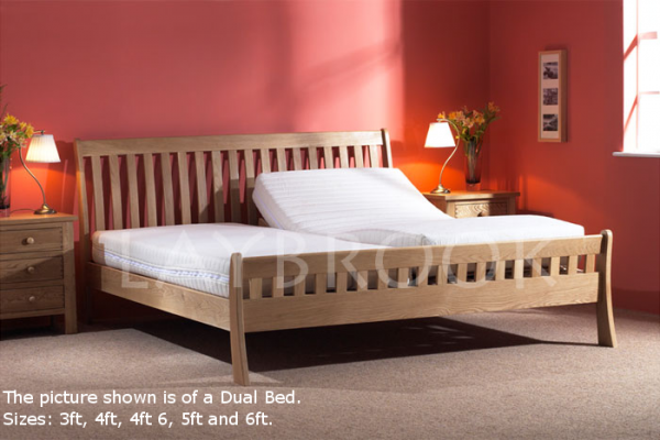 Harlech Dual Oak Adjustable Bed