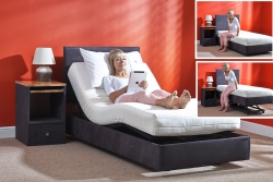 Durham ultra low, hi-low  bed with slide back