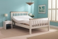 White Huntley Double Adjustable Bed