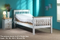 White Huntley Single Bed